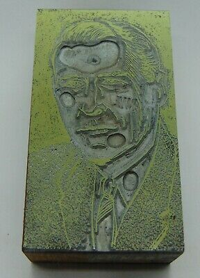 Printing Letterpress Printers Block Detailed Picture Of A Man