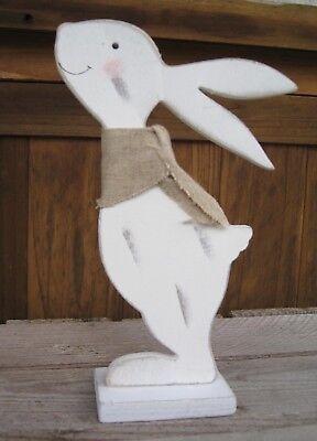 """Shabby Deko Hase """"Michel"""" zum Stellen Ostern Osterhase Tischdeko weiß mit Schal"""