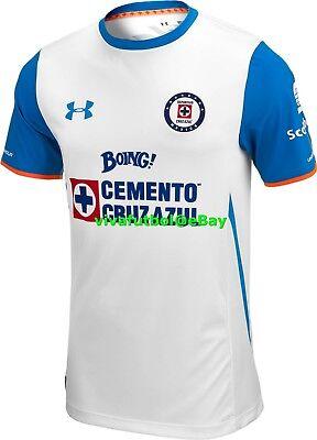 NEW Under Armour UA Mens Cruz Azul LIGA MX MEXICO Away 2015/2016 Soccer Jersey L image