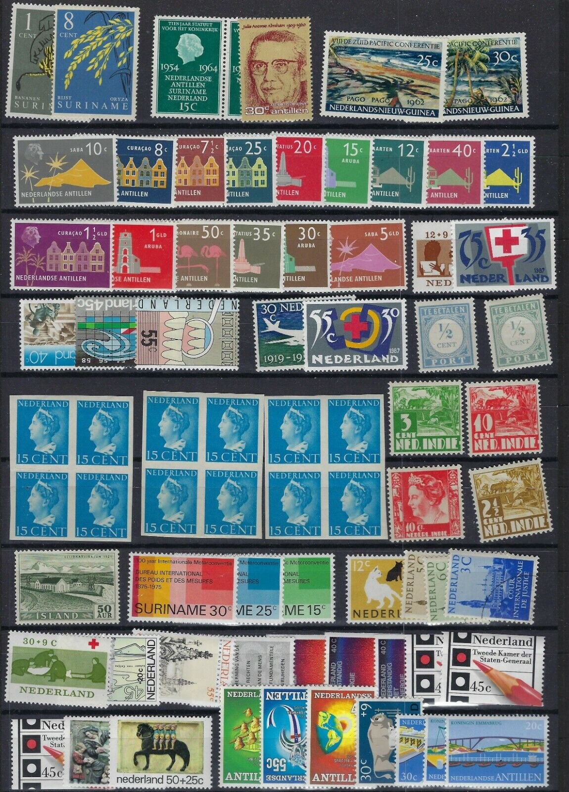 EUROPE NETHERLANDS COLONIES 1940 1980s COLLECTION OF 150 PLUS - $89.99