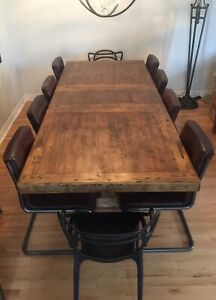 Gorgeous Solid Walnut Harvest Dining Room Table