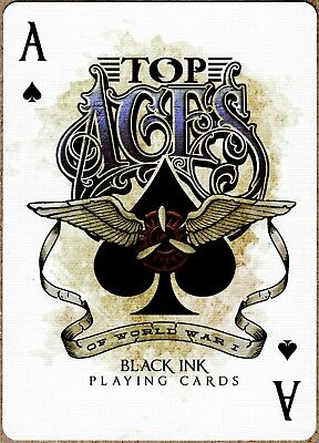 Top Aces of WWI Playing Cards Legends 100% Custom New First Printing Limited