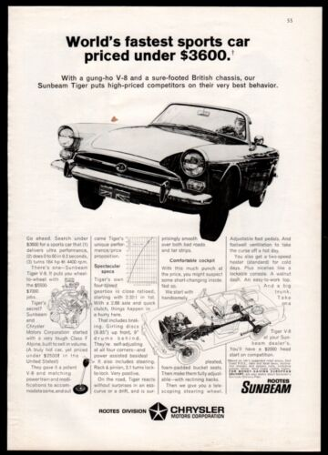 1966 Rootes SUNBEAM Tiger by Chrysler Sports Car AD