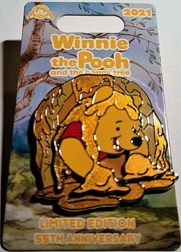 Disney Parks Winnie The Pooh And Honey Tree 55th Anniversary Honeycomb LE Pin.