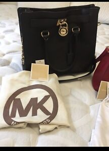 Authentic Michael Kors Hamilton Leather Satchel Bag (Large)