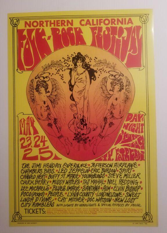 North Cal.folk rock festival poster