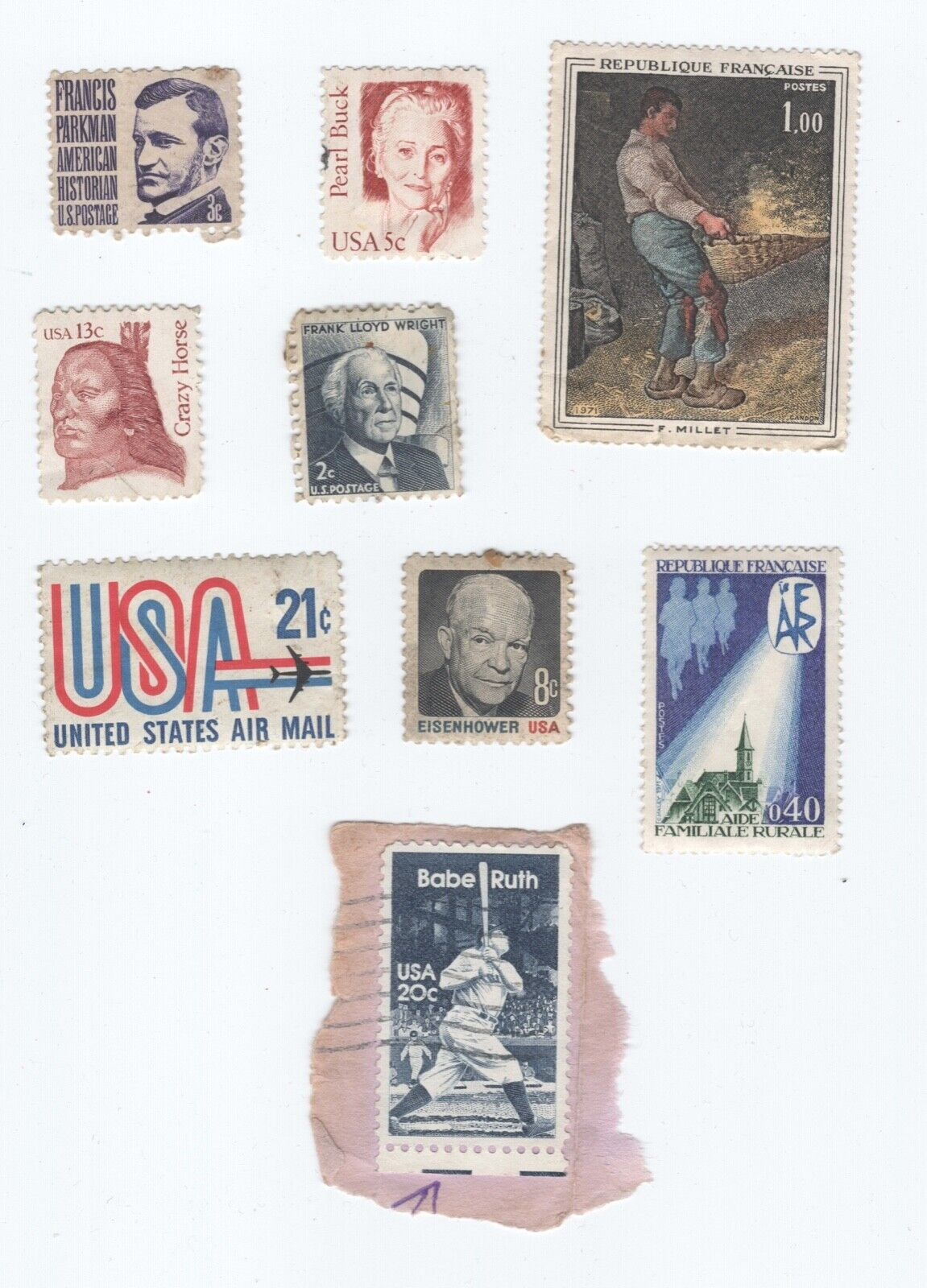 Lot Of Stamps America And France - $2.99