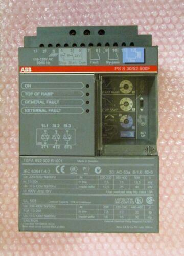ABB PSS30 52 500F Soft Start Motor Controller 110/120V 10-30 Amp PS S 30/52-500F