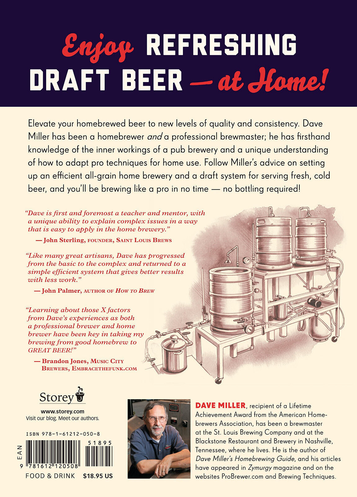 Brew Like A Pro : Make Pub-Style Draft Beer At Home (pb) Dave Miller New w/rm*