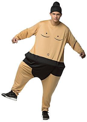 Fat Sumo Hoopster Wrestlers Adult Full Length Costume Halloween Rasta Imposta - Sumo Wrestlers Costumes