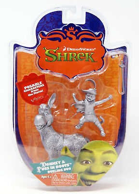 MGA - Dreamworks - Shrek - Donkey & Puss in Boots Figur - Silber Variante