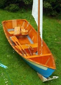 15 foot wooden sailing dory