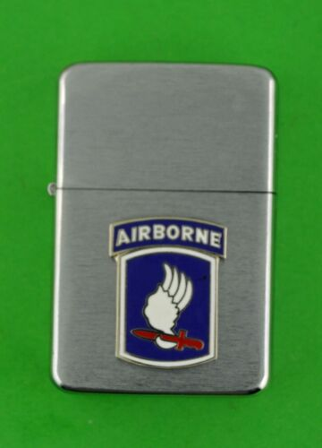 173rd AIRBORNE BRIGADE ARMY WIND PROOF PREMIUM LIGHTER IN A GIFT BOX 173 sbc123