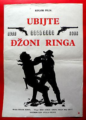 UCCIDETE JOHNNY RINGO 1966 BRETT HALSEY GRETA POLYN WESTERN EXYU MOVIE POSTER