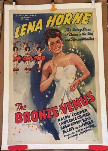 JAZZ MOVIE POSTER - LENA HORNE - THE BRONZE VENUS - 1940s - ORIGINAL