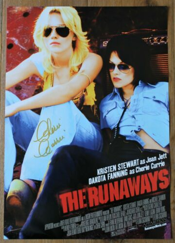 the Runaways Movie 2010 Original 14x20 Mini Poster Signed by Cherie Currie