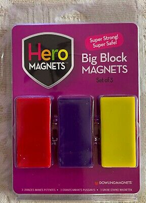 Dowling Hero Magnets Big Block Magnets -beautiful Colors New