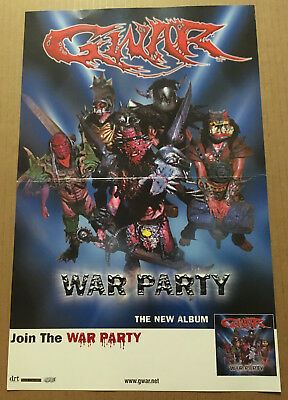 GWAR Rare 2004 PROMO POSTER for War party CD USA seller NEVER DISPLAYED 17 x 11