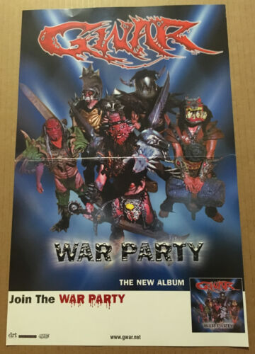 GWAR Rare 2004 PROMO POSTER for War party CD USA seller NEVER DISPLAYED 17 x 11