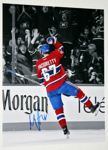 MAX PACIORETTY SIGNED 11x14 PHOTO MONTREAL CANADIENS VEGAS GOLDEN KNIGHTS +COA