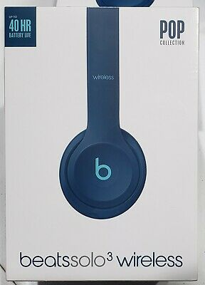 Beats by Dr. Dre Solo3 Wireless On-Ear Headphones, POP Blue, New, Factory Sealed