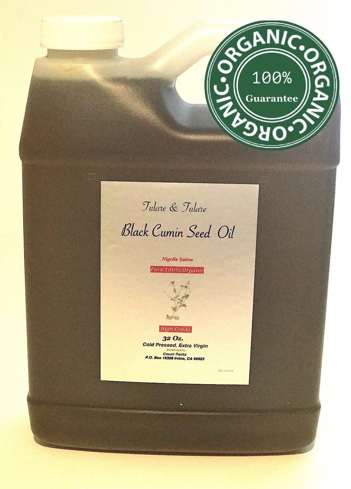 BLACK CUMIN SEED OIL Nigella Sativa 32 Oz Organic pure Habet