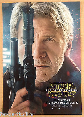 Cinema Poster: STAR WARS THE FORCE AWAKENS 2015 5 Character Set Mini One Sheets
