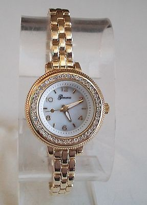 Kyпить GOLD FINISH CLEAR CZ GENEVA SMALL DIAL FASHION WOMEN'S WATCH на еВаy.соm