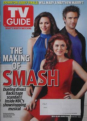 Debra Messing   Katherine Mcphee   Jack Davenport Smash  2012 Tv Guide Magazine