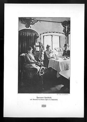 Hermann Kaulbach in seinem Heim in Schliersee Der deutscher Maler Kunstdruck1906
