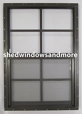 18 x 27 Shed Window SAFETY GLASS Brown Flush Playhouse Tree Deer Stand Coops