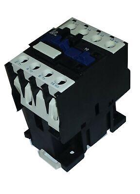 Contactor trifásico 18A 220Vac contacto auxiliar abierto NA