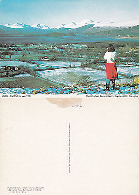 1980's WINTER AT LOCH LOMOND ARGYLLSHIRE SCOTLAND COLOUR POSTCARD