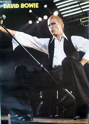 RARE DAVID BOWIE 1978  VINTAGE ORIGINAL MUSIC POSTER