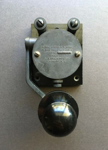 Signal Corps U.S. Army Flame Proof Key J-5-A by L.S. Brach MFG. Co. 583-Phila-42