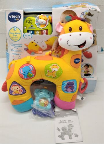 VTech Tummy Time Discovery Pillow Multi-Color Giraffe baby plush toy mat birth+