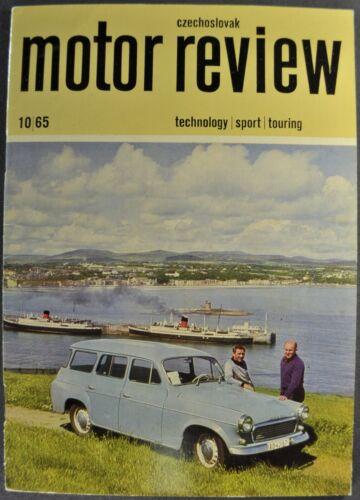 1965-1966 Czechoslovak Review Jawa CZ Motorcycle Skoda Sedan Excellent Original