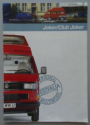 V19639 VOLKSWAGEN T3 JOKER - CATALOGUE - 1989 - A4 - NL