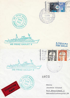 DANISH FERRY MS PRINZ HAMLET II 2 SHIPS CACHED COVERS