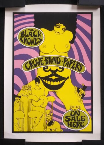 THE BLACK CROWES 1996 tour poster [official rolling papers promo display banner]