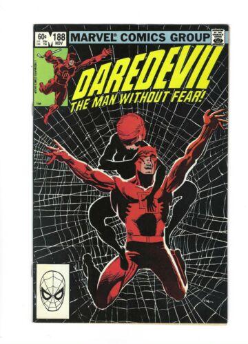 Daredevil #188 Classic Frank Miller, Black Widow,  9.2 NM-, 1982 Marvel