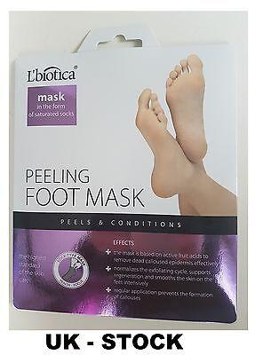L'biotica Lbiotica Exfoliating Peel Feet 40ml 1 pair Sock Type Mask - L biotica