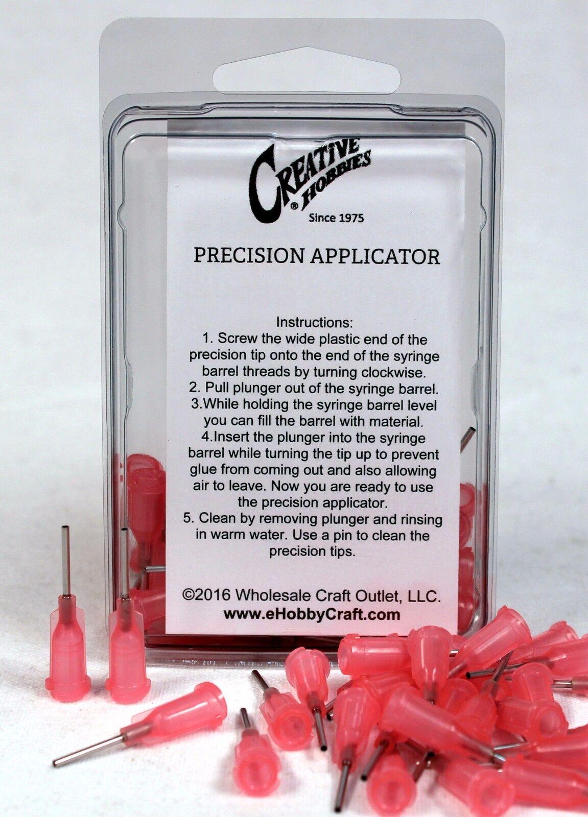 18 Gauge 0.5 Inch, Pink, Precision Applicator Dispensing Needle Tips, 50 Pieces Adhesive Guns & Dispensers