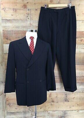 Giorgio Armani Le Collezioni Mens Jacket Blazer Pants Suit Black Wool Sz 38S/40R