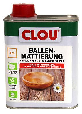 Lack Farblos Holz (Clou L2 Ballenmattierung farblos 0,75L Ballen Mattierung Holzlack Möbellack)
