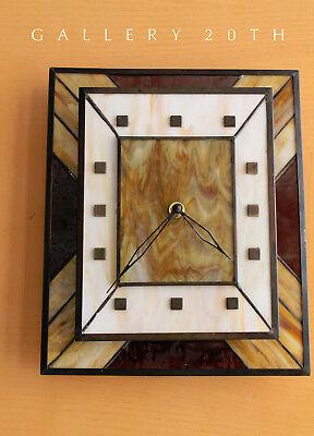 MID CENTURY MODERN SLAG GLASS BRUTALIST CLOCK! EAMES HERMAN MILLER KNOLL ERA VTG for sale  Scottsdale