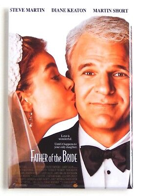 Father of the Bride (1991) FRIDGE MAGNET (2 x 3 inches) movie poster](Father Of The Bride 3)