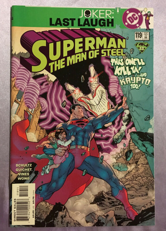 SUPERMAN MAN OF STEEL #119~JOKER LAST LAUGH~JIM LEE ART~NM~FREE USA SHIPPING