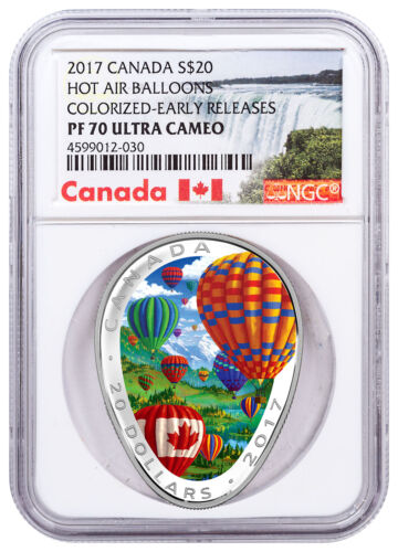 2017 Canada Hot Air Balloon 1 oz Silver Colorized $20 NGC PF70 UC ER SKU49417