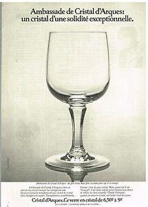 publicit advertising 1976 cristal d 39 arques les verres mod le ambassade ebay. Black Bedroom Furniture Sets. Home Design Ideas